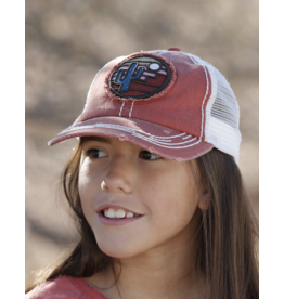 Cinch Cinch Girls' Cactus Patch Trucker Cap, Red
