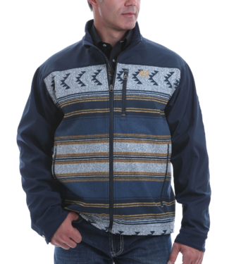 Cinch Color Block Aztec Softshell Jacket