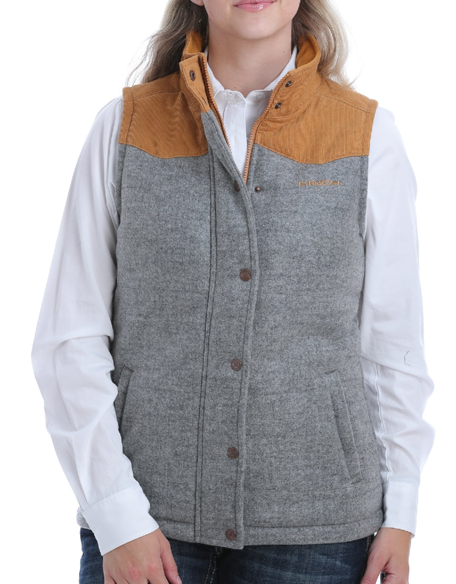 Cinch Cinch Brushed Tweed Vest