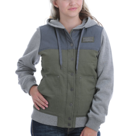 Cinch Color Block Canvas Hoodie Jacket