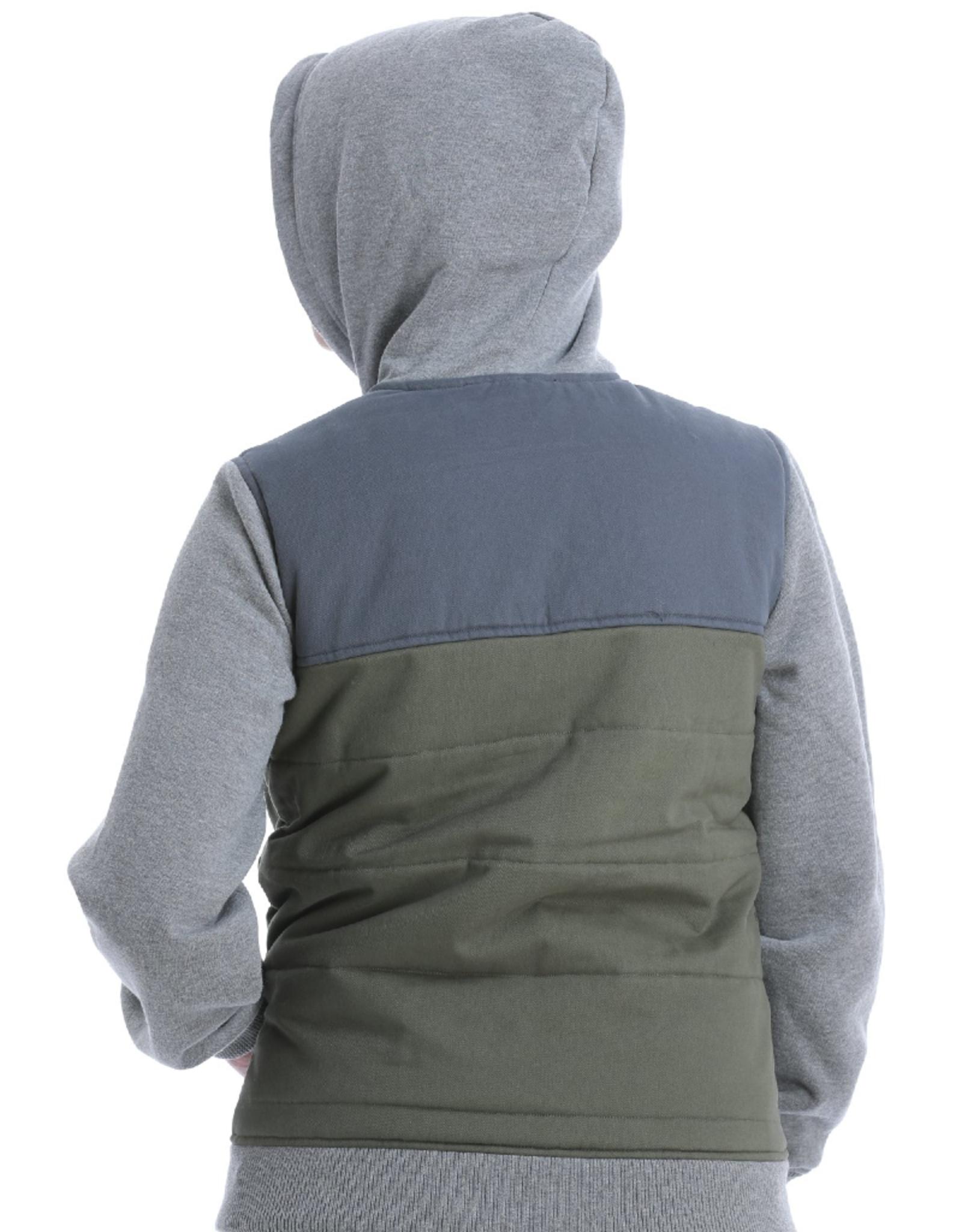 Cinch Cinch Color Block Canvas Hoodie Jacket