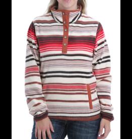 Cinch Serape Print Fleece Pullover