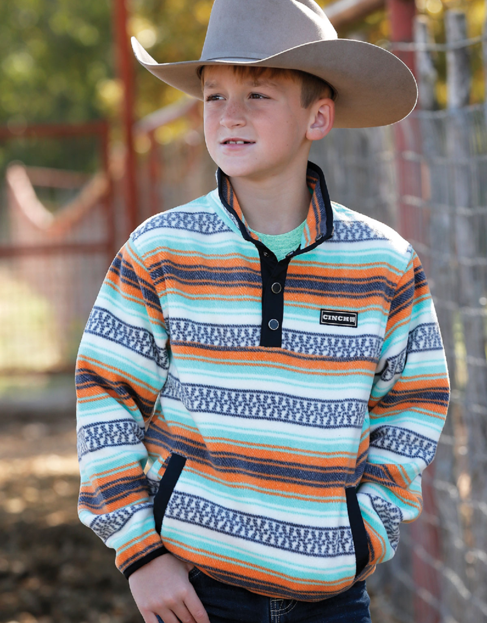 Cinch Cinch Boys' Print Polar Fleece Pullover