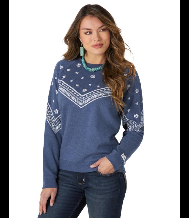 Wrangler Raglan Printed Pullover