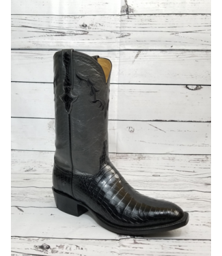 Lucchese Classics Black Ultra Belly Caiman Boots
