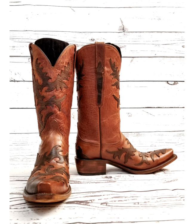 Lucchese Classics Tan Goat Boots: 7B
