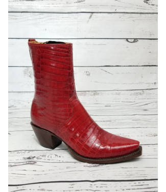 Lucchese Classics Red Ultra Belly Caiman Boots