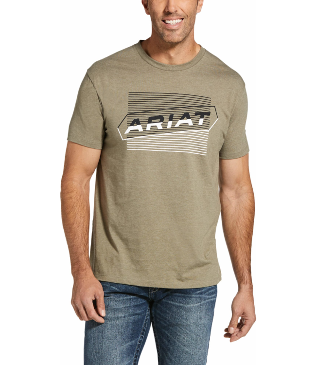 Ariat Two Tone Tee Olive/Heather