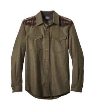 Pendleton Pieced Canyon Solid Fitted Shirt