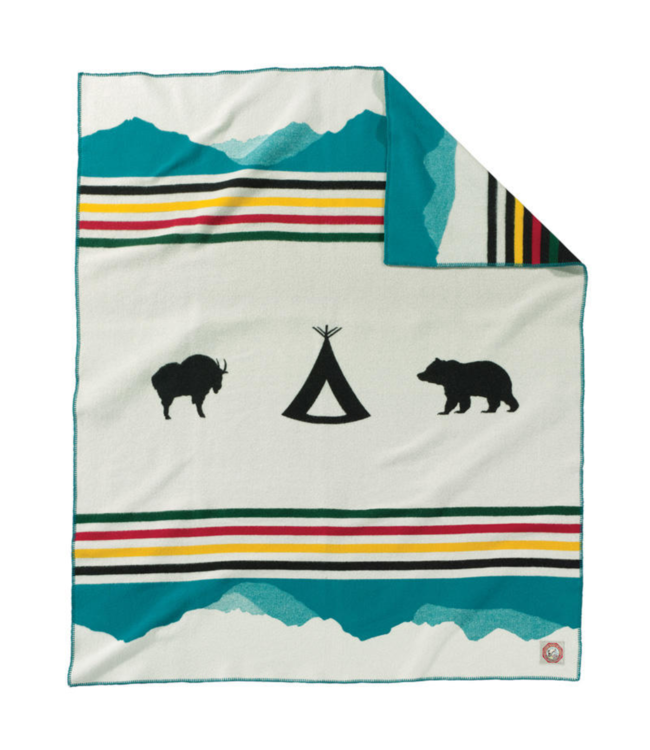 Pendleton Glacier Park Crown of the Continent Blanket: Twin