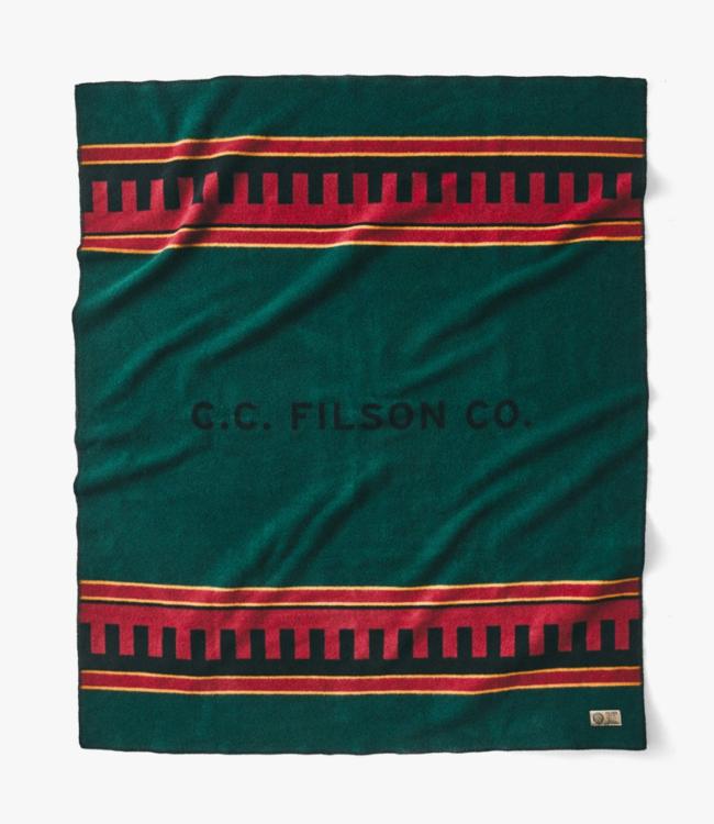 Filson Bunkhouse Wool Blanket, Dark Forest