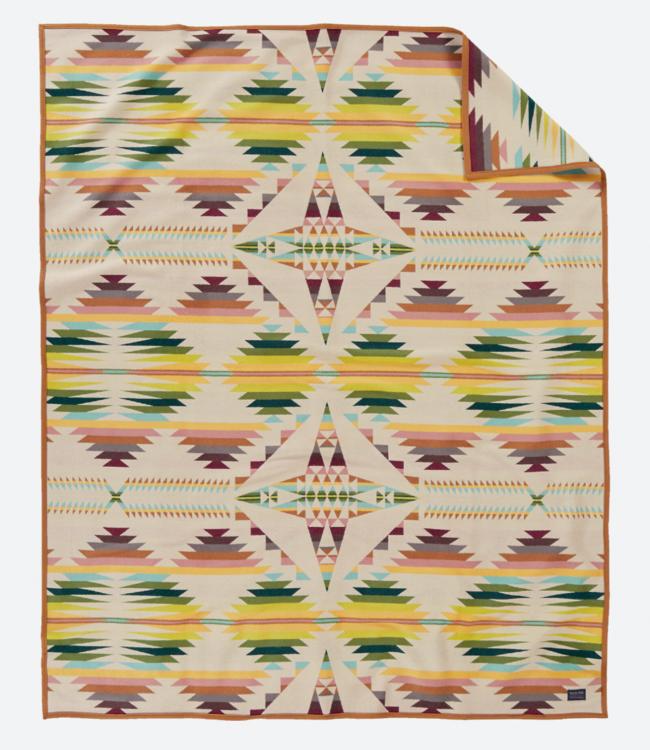 Pendleton Falcon Cove Tan Blanket: Queen