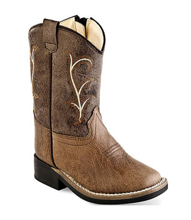 Old West Toddler Square Toe Zipper Boots