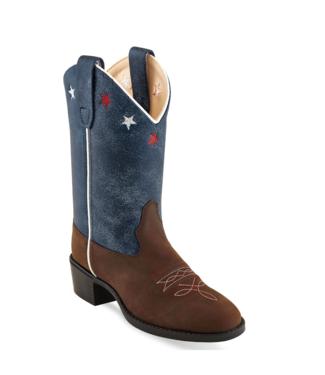 Old West Americana Roper Toe Boots