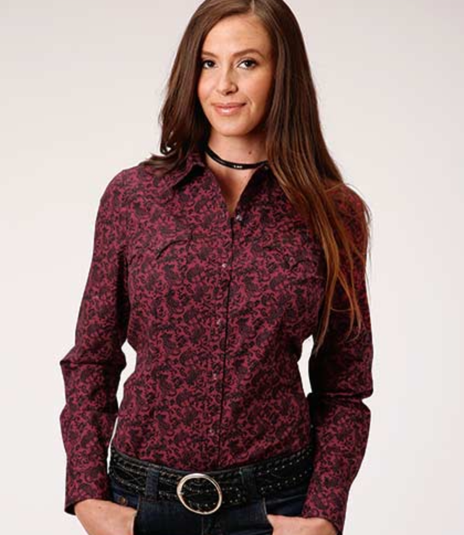 Roper Fitted Paisley Print Shirt