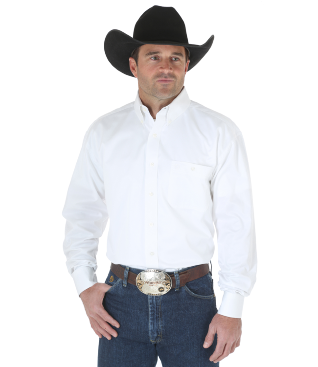 Wrangler George Strait Solid Button Shirt