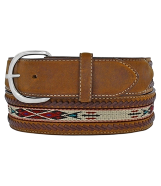 "Tony Lama 1 1/2"" Laced Edge Horse Hair Belt"