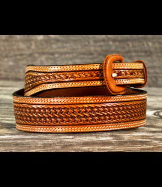 Vogt Russet Basket Weave Pattern Belt