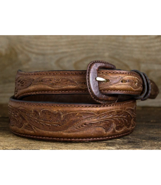Vogt Running Oak Leaf Pattern Bison Belt