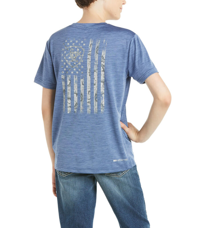 Ariat Boys Charger Flag Tee