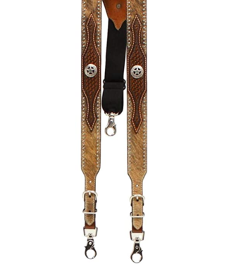 M&F Calf Hair Concho Suspenders