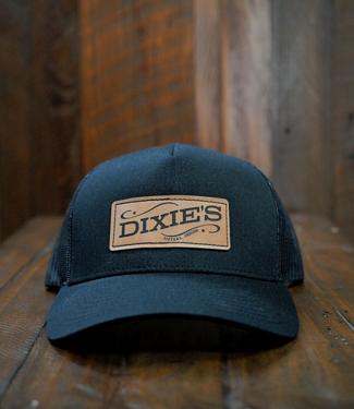 Dixie's Dixie's Logo Retro Trucker Cap, Black