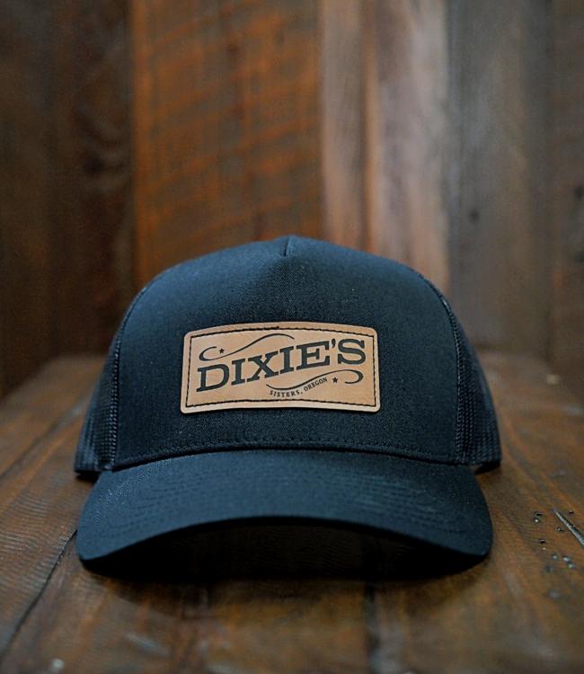 Dixie's Logo Retro Trucker Cap, Black/Black
