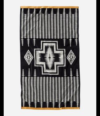 Pendleton Harding Black Beach Towel