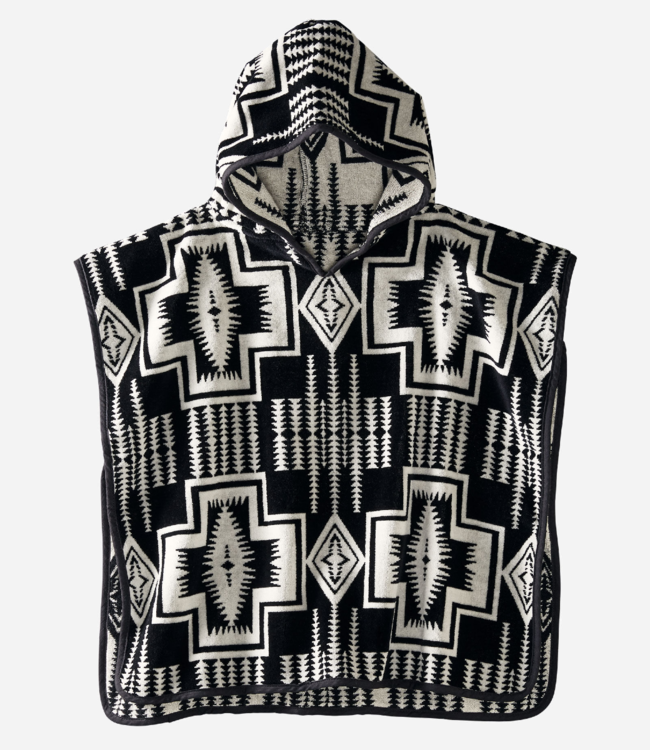 Pendleton Jacquard Hooded Towel, Harding Black