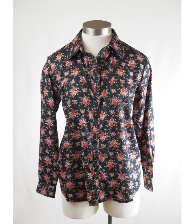 Montana Clothing Co Rose Print Button Up