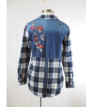 Montana Clothing Co Plaid & Denim Button Up