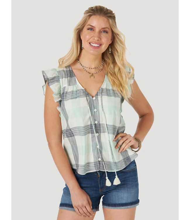 Wrangler Sleeveless Ruffle Top