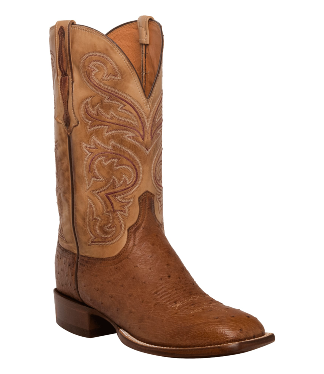 Lucchese Lance Smooth Ostrich Boots