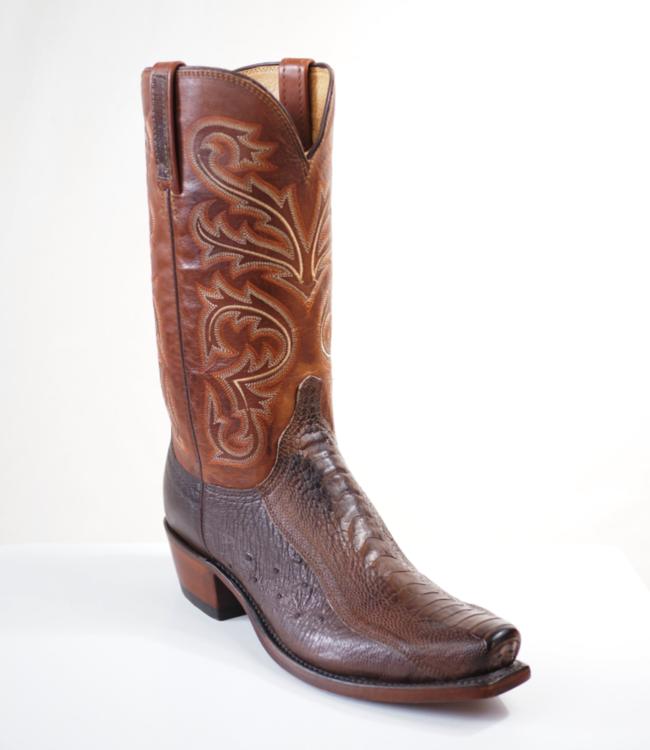 Lucchese Nick Ostrich Leg Boots