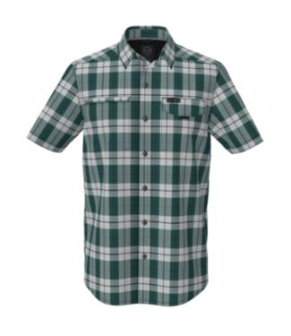 Wrangler Asymetric Zip Pocket Plaid Shirt