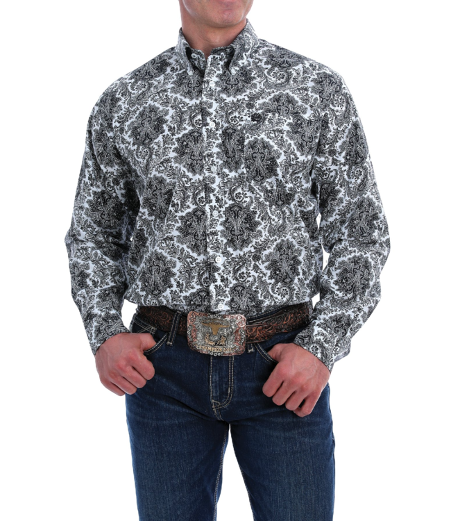 Cinch Classic Fit Paisley Print Shirt