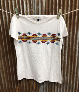 Montana Clothing Co Geometric Embroidered Tee