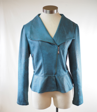 Montana Clothing Co Sueded Asymmetrical Jacket