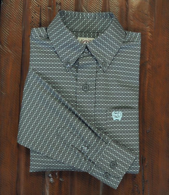 Cinch Boys Print Long Sleeve Button Shirt