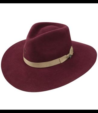 Stetson & Resistol Hats Charlie 1 Horse Highway Hat, Burgundy