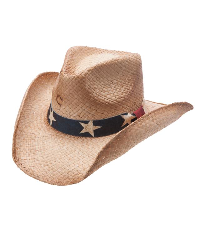 Charlie 1 Horse Stars & Stripes Straw Hat