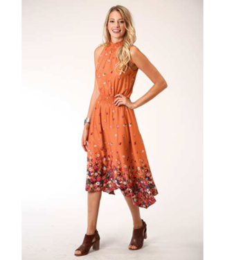 Stetson & Roper Apparel Roper Hi Lo Border Print Dress