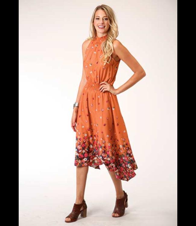 Roper Hi Lo Border Print Dress