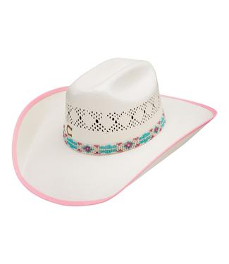 Stetson & Resistol Hats Youth Gracie Jr Straw Hat, Pink, OSFM