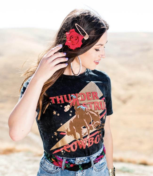 Thunder Struck Cowboy Tee