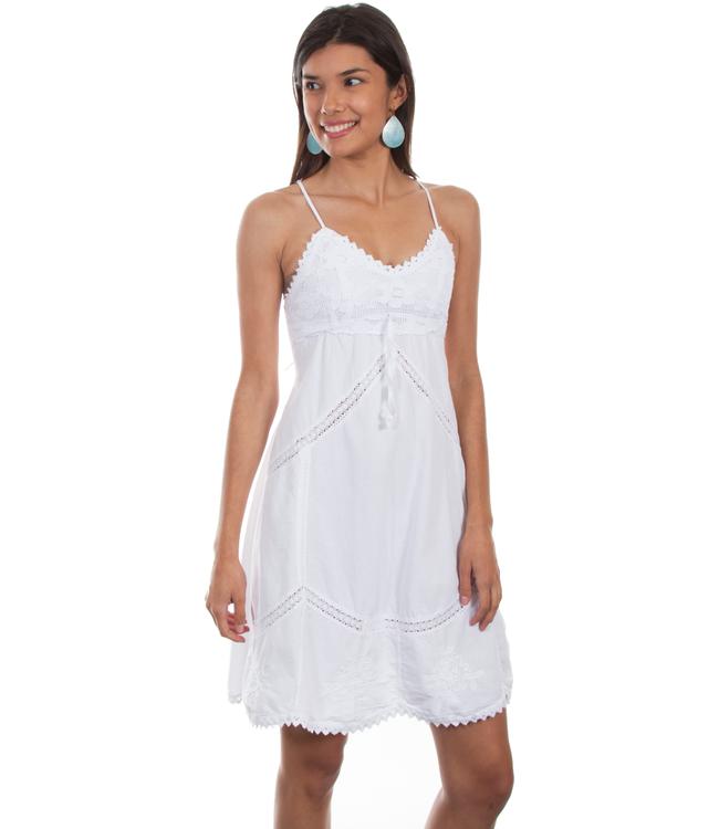 Scully Peruvian Cotton Spaghetti Strap Dress