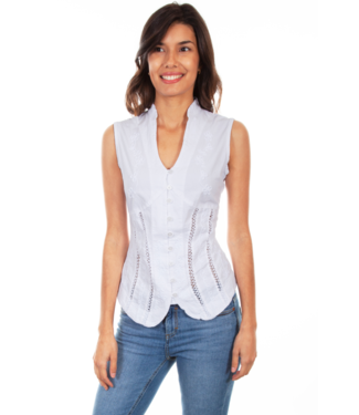 Scully Sleeveless Blouse, Multiple Color Options