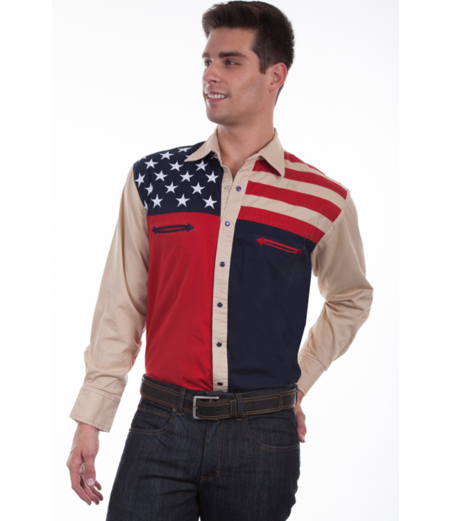 Scully Patriot Collection Americana Shirt