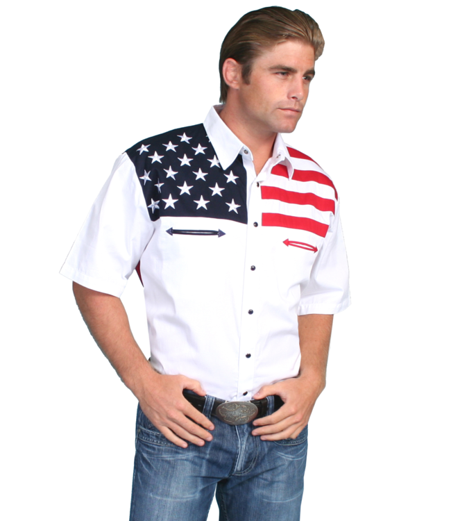 Scully Patriot Collection Flag Shirt