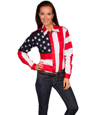 Scully Stars & Flag Blouse